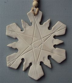 Large Ceramic Snowflake £7.50