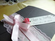 Pocket fold  Luxury Wedding Invitation sample by TheRainbowColors, $5.50