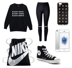"""bläck"" by auliaarist on Polyvore featuring art"