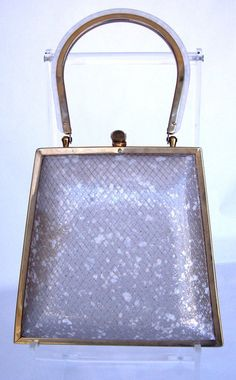 Vintage Lucite Hollywood Glamour Handbag by jpcountrymarket