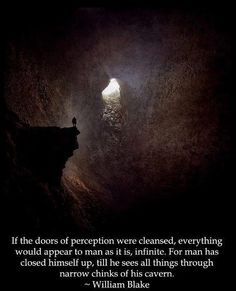 cleanse the doors of perception