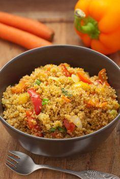 Schnell gekocht: Gemüse-Couscous mit Frühlingszwiebeln                                                                                                                                                                                 More