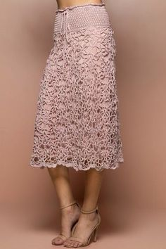 various skirt design concepts that can best show women's beauty – Page 24 of… – Ljubow Dell - Crochet Crochet Summer Dresses, Crochet Skirts, Knit Skirt, Crochet Clothes, Knit Dress, Lace Skirt, Midi Skirt, Mode Crochet, Crochet Lace