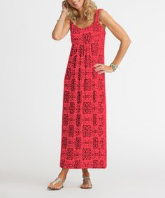 Another great find on #zulily! Red Coral Mariposa Malibu Maxi Dress by Fresh Produce #zulilyfinds