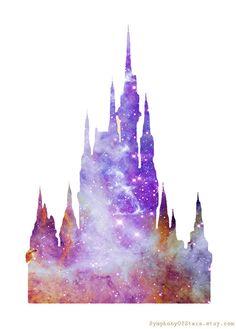 Castle Galaxy Universe Fine Art Print Poster by SymphonyOfStars, $15.00