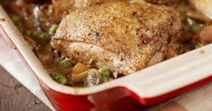 A zöldborsó és a répa mellett sült csirke isteni, és még a diétázók is nyugodtan az étrendjükbe illeszthetik. Gourmet Recipes, Crockpot Recipes, Diet Recipes, Healthy Recipes, Healthy Tips, Braised Chicken, Chicken Thigh Recipes, Le Diner, Spinach Recipes