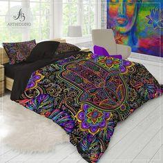 Best College Bedroom Decoration – My Life Spot College Bedding, Dorm Bedding, Bohemian Bedroom Decor, Home Decor Bedroom, Bedroom Ideas, Bohemian Decorating, Master Bedroom, Interior Decorating, Bedroom Inspo