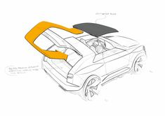Audi Crosslane Coupe Concept - Roof Design Sketch