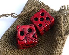 "Oogie Boogie's Dice, Prop Replica from Disney and Tim Burton's ""The Nightmare Before Christmas."""