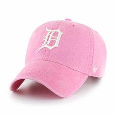 save off 2badb d0ffd Detroit Tigers 47 Brand Pink Rose Summerland Clean Up Adjustable Hat