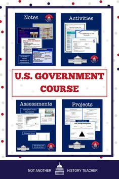 This is an amazing semester-long regular government and civics course. These are highly engaging, complete lessons, and activities for a regular government course (NOT AP). This is easy to follow a course. Over 500 individual EDITABLE activities in ONE package! #government #civics