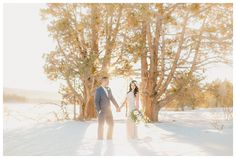 Snowy Mountain Elopement in Big Bear, CA   Fairytale Snow Wedding   Crystal and Christopher
