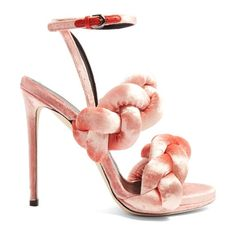 On SALE at 40.00% OFF! Plaited velvet sandals by Marco De Vincenzo. Marco de Vincenzo's plaited sandals are a street-style favourite. This flamingo-pink velvet pair is made in Italy and...