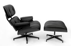 1/100 All Black Special Edition Eames Lounge Chair