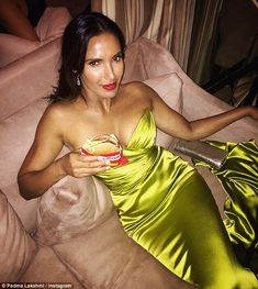 Reunited and it feels so good: Padma Lakshmi posted a pic on Instagram with her true love, an In-N-Out burger after she attended the Primetime Emmy Awards on Sunday