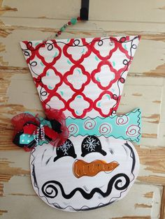 Snowman Door Hanger - pinned by pin4etsy.com