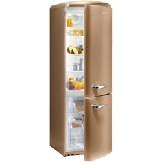 Cappuccino - #Gorenje Réfrigérateur rétro congélateur bas RK60359OCO Top Freezer Refrigerator, French Door Refrigerator, Domestic Appliances, Kitchen Appliances, Kitchens, Gorenje Retro, Vegetable Drawer, Smeg Fridge, Freestanding Fridge