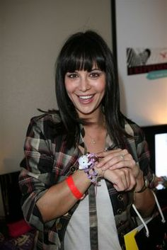Catherine Bell in our Hello Kitty Bracelet!  #catherineBell #HelloKitty #Bracelet #toys #Jewelry #Celebrities