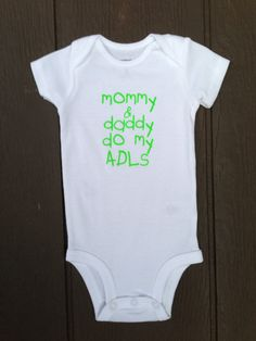 ADLs Occupational Therapy baby bodysuit onesie by BlueBeltBaby, $12.00