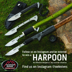 We're giving away one Survival Series Harpoon in honor of #NationalKnifeWeek - want to win it? Just follow us on Instagram and you're entered! One winner will be chosen Friday, August 28th