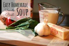 Easy Homemade Tomato Basil Soup via FaithfulProvisions.com
