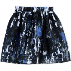Mcq Alexander Mcqueen Knee Length Skirt (€105) ❤ liked on Polyvore featuring skirts, bottoms, black, mcq by alexander mcqueen, pleated skirt, knee high skirts, multi color skirt and knee length skirts