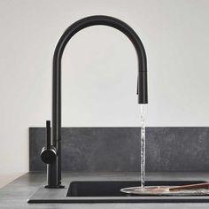 Black Kitchen Taps, Kitchen Mixer Taps, Sink Mixer Taps, Black Kitchens, Contemporary