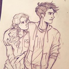 This percabeth art is just so fucking perfect