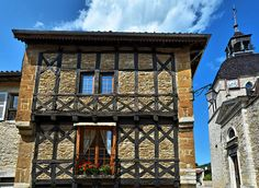 Maisons à colombages - Meillonnas - Revermont - Ain by Vaxjo, via Flickr