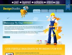 Creative designer web template