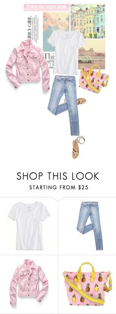 """White T-shirt"" by youaresofashion ❤ liked on Polyvore featuring Millà, American Eagle Outfitters, Talbots and Dolce&Gabbana"