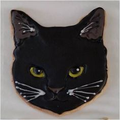 Angry black kitty cookie