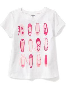 Ballet slippers--Graphic Crew-Neck Tee