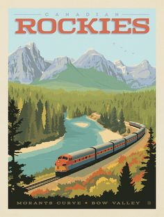 Canada: Rockies by Rail National Park Posters, National Parks, Poster Prints, Wall Art Prints, Wall Collage, Dorm Art, Train Posters, Yellowstone National Park, Graphic Design Posters