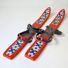 Vintage Child Skis by Amrein and Weber Zuerich Made in Switzerland