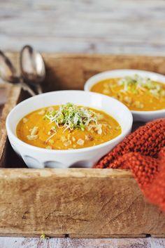 Pumpkin soup with chestnut & sprouts by Lapetit.sk / Tekvicová polievka s gaštanmi a klíčkami | Lapetit