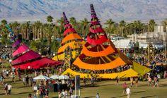 Do Lab Misting Oasis_ Coachella 2013 Burning Man Sculpture, Sculpture Art, Stage Design, Event Design, Tenda Camping, Coachella 2013, Parc A Theme, Shade House, Shade Structure