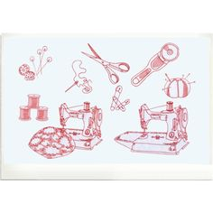 red work sewing notions - Google Search