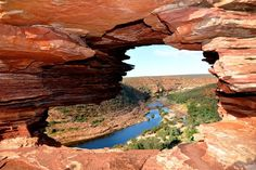 Kalbarri -Western Australia - This is 'The natural Window' in the Kalbarri National Park. We have family photos here back in 2006 and now Outback Australia, Visit Australia, Western Australia, Australia Travel, Australia Destinations, Australia Visa, Perth, Brisbane, Melbourne