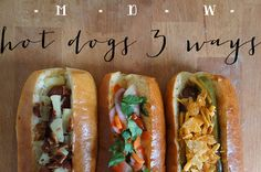 Just in time for #mdw these three new takes on hot dogs are the way to go! (http://livelaughcook.com/live-laugh-memorial-day-weekend-hot-dogs/)