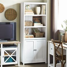 Sauder® 'Cottage Road' Library With Doors Doors Online, Canada Shopping, Small Apartments, Online Furniture, Mattress, Bookcase, New Homes, Cottage, Shelves