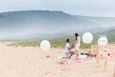 Sue and Shival's Romantic Beach Proposal