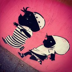 Jip en Janneke street art Rotterdam - Lastplak