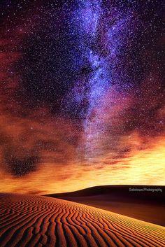 Milky Way in the desert sky