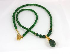 Genuine Emerald Necklace  Gift Idea for her Ready by VivaTheLove