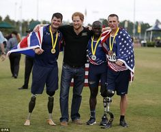 Harry, who founded the games for wounded, injured and sick veterans, now in its second running after the London Invictus Games in 2014, surprised many of the competitors by handing out medals himself