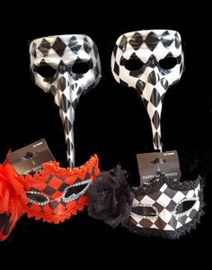 The 99 Cents Only Stores 2017 merchandise includes these haunting Harlequin masks for -- you guessed it -- 99¢  each! Festive Harlequin Fête Halloween Party Decorating & Ideas
