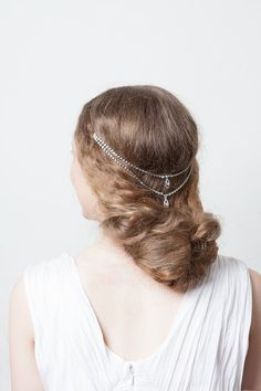 Wedding hair chain by RoseRedRoseWhite on etsy for $96.57