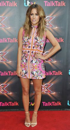 Caroline Flack rocking perfect pins on the red carpet Latest Fashion Clothes, Daily Fashion, Fashion Outfits, Womens Fashion, Celebrity Crush, Celebrity Style, Essential Wardrobe, Caroline Flack, Tv Presenters