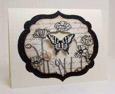Pleasant Poppies + Papillion Potpourri - Crumb Cake, soft suede, embossing _   Mama Mo Stamps